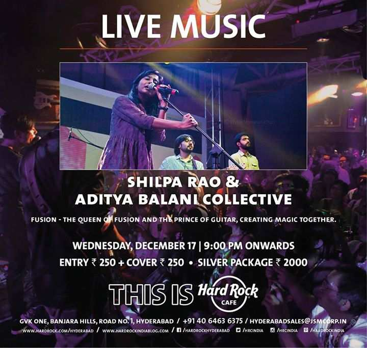 Shilpa Rao Amp Aditya Balani Collective Perform At Hard Rock