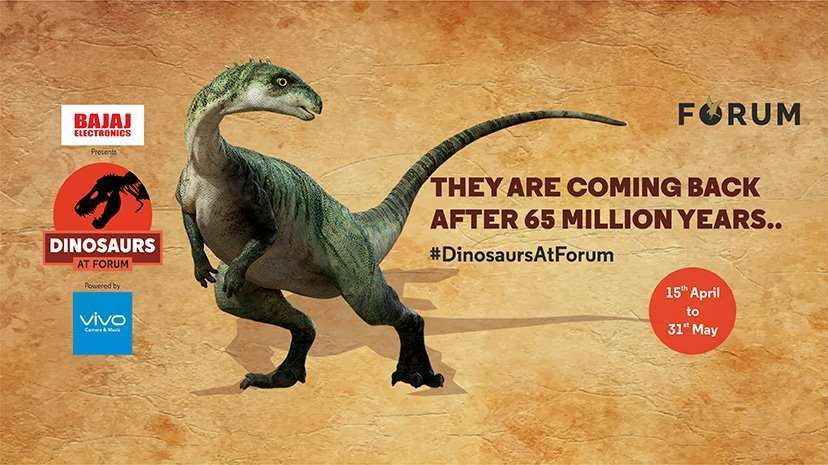 7fdee69142 Dinosaurs at Forum Sujana Mall 15th April to 31st May 2017
