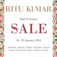 Ritu Kumar, End Of Season Sale, Up to 70% off, 16 to 25 January 2014, Delhi NCR, Mumbai, Kolkata, Bangalore, Punjab, Chennai, Hyderabad, Jaipur, Lucknow, Cochin