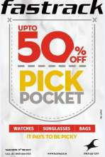The Fastrack Deal, it's a Steal - Fastrack offers up to 50% off on select watches, sunglasses, bags, belts & more!