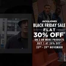Black Friday Sale at Jack & Jones  23rd - 29th November 2020