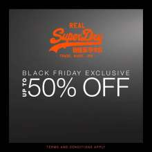Superdry Black Friday Exclusive Upto 50% off Sale  24th - 26th November 2017