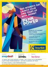 This Women's Day Inorbit wants to do something more meaningful. The Inorbit Pink Power initiative gives women the opportunity of their lifetime – . An initiative that'll help them rise as entrepreneurs. Select business ideas will be given an opportunity to collaborate with Inorbit to start their business venture.
